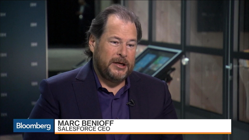 Marc Benioff discussing AI and M&A for 2017