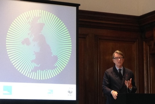 Lord Mandelson speaks...