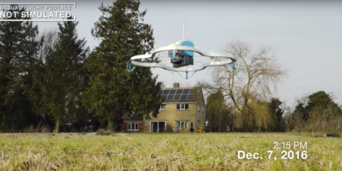Drone deliveries a flight closer