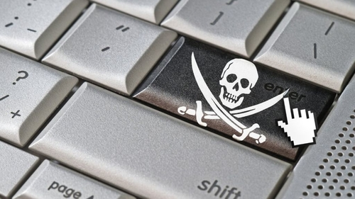 Email warnings to online pirates