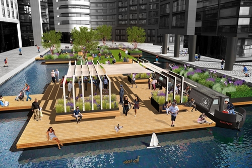 Floating a brilliant new idea: Paddington to get a public park on water