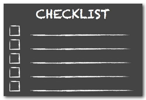 Checklist for international arbitration