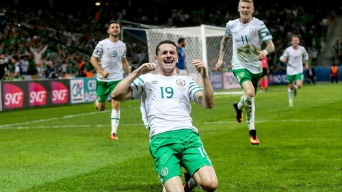 Robbie Brady heads Ireland into Euro last 16..Brexit! whats that?