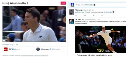 Match point for Twitter as it trials live sports streams?