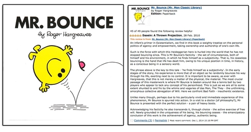 The Existentialism of Mr Bounce