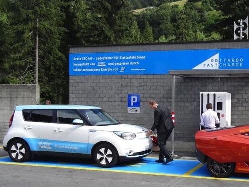 eMobility in der Schweiz: Ladestation für 150kW