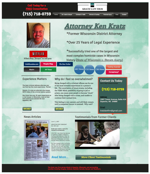 Web designer does a mock 1-hour makeover on a particularly egregious lawyer website