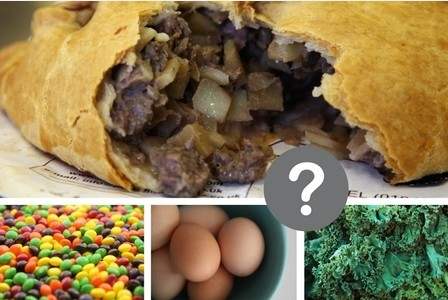 What would you rather have - A large pasty or 1.58kg of kale?