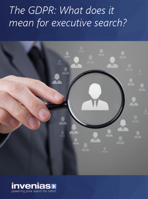 A guide to the GDPR - what does it mean for executive search?