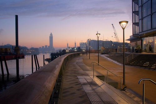 The Nine Elms regeneration - now you can power your away along the Thames