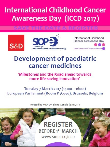 Today is International Childhood Cancer Awareness Day (ICCD 2017)