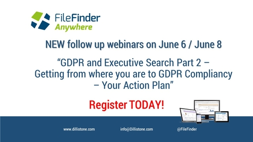 Follow-up GDPR Webinars on June 6 / June 8 - attend to get your action plan!