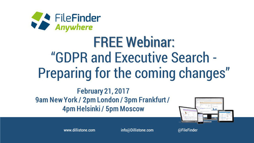 Free Webinar on Feb 21: GDPR and Executive Search – Preparing for the Coming Changes