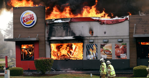 Burger King Burns Down the House