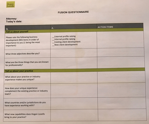How to get your lawyers to raise their profile and engage in BD activities with Hogan Lovells Fusion