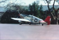 """Image of """"ETD's Baby"""" model aircraft - 1/48 scale, P-51 """"ETD's Baby"""" - 99th Squadron type, C-Mustang"""