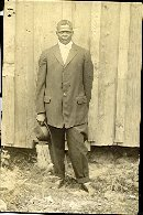 Image of Collection of historic photographs - Standing man with hat