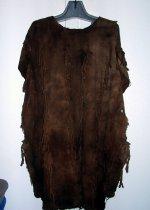 Image of Hunter's shirt, cotton, Bamana, West Africa. Dark brown patina.