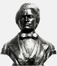 "Image of Bust of Frederick Douglass - Bust of Frederick Douglass (1818-1895) ""portrayed as a young man at the height of his power from photographs taken at that time""."