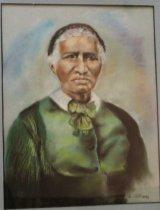 Image of Clara Brown - Portrait drawing of Clara Brown, philanthropist, pioneer and first  African American nurse in Denver area of Colorado.