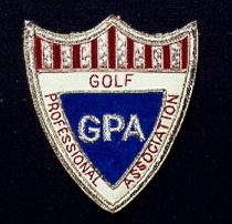 Image of fabric GPA crest with steel pins
