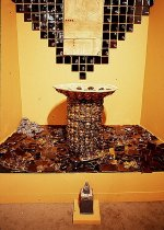 Image of Indwell - an installation of ceramic artwork incorporating water fountains
