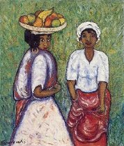 Image of Lidie et Tina - 2 women with fruit