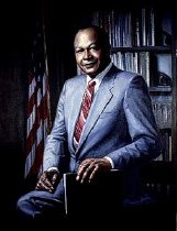 Image of For most of his tenure as Mayor of Los Angeles (1973 - 1993) this portrait graced the walls of his office in city hall.