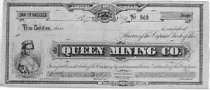 Image of Queen Mining Co. - Two (2) stock certificates