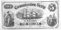 Image of Commission Scrip $5 - lithograph