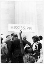 Image of .They came from everywhere-even Mississippi - Image of the Mississippi delegation from the historic March on Washington.
