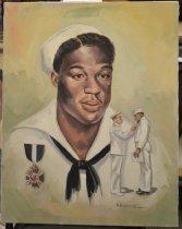 Image of Dorie Hansen - A head and shoulders portrait of Dorie Hansen, navy hero.