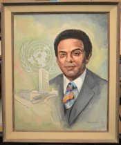Image of Andy Young - A head and shoulders portrait of the Reverend Andrew Young, Civil Rights Leader and former UN Ambassador.