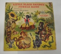 Image of Little Black Sambo's Jungle Band - 78RPM record and childrens story on inside sleeve.