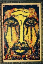 Image of The Tribesman/Bay Study - Executed in a strong expressionistic style and in a palette with yellow and black predominant.