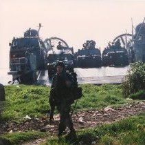 2001 0203 2 - Color photo  SEAL Team 8 launches on to coast of Haiti