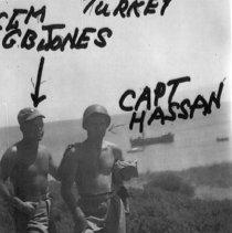 Image of Turkey CGM G.B.Jones Capt Hassan 1951