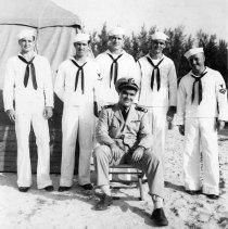 Image of 2002.0034.25 - B&W photo of members of UDT 7