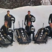 Image of Navy Bobsled Team Postcard