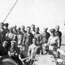 """Image of 2nd Div. Aboard """"Gilmer"""" Sept 1944"""