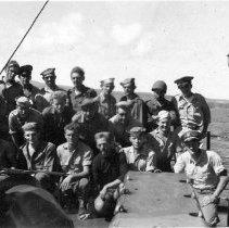 """Image of 3rd Div. Aboard """"Gilmer"""" Sept 1944"""