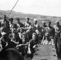 """Image of 4th Div. Aboard """"Gilmer"""" Sept 1944"""