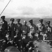 """Image of Gold Braid Aboard """"Gilmer"""" Sept 1944"""