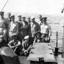 """Image of H.Q. Div  Aboard """"Gilmer"""" Sept 1944"""