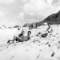 Image of Camp Erdman Oahu T.H. Feb 1945 - Hall - Adams - Hendrickson