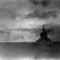 """Image of Lingayen Gulf Luzon, P.I. Jan 6-11, 1945 D-Day 9Jan1945 """"OBB"""" comes out of"""