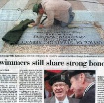 Image of OSS News article, Memorial Stone