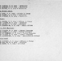 Image of Pg 12: (b) SP School (Cont'd); (c) S&R School; (d) Army Ordnance; (e) Compa