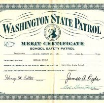 Image of School Safety Patrol Certificate