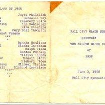 Image of Class of 1958 Graduation Program